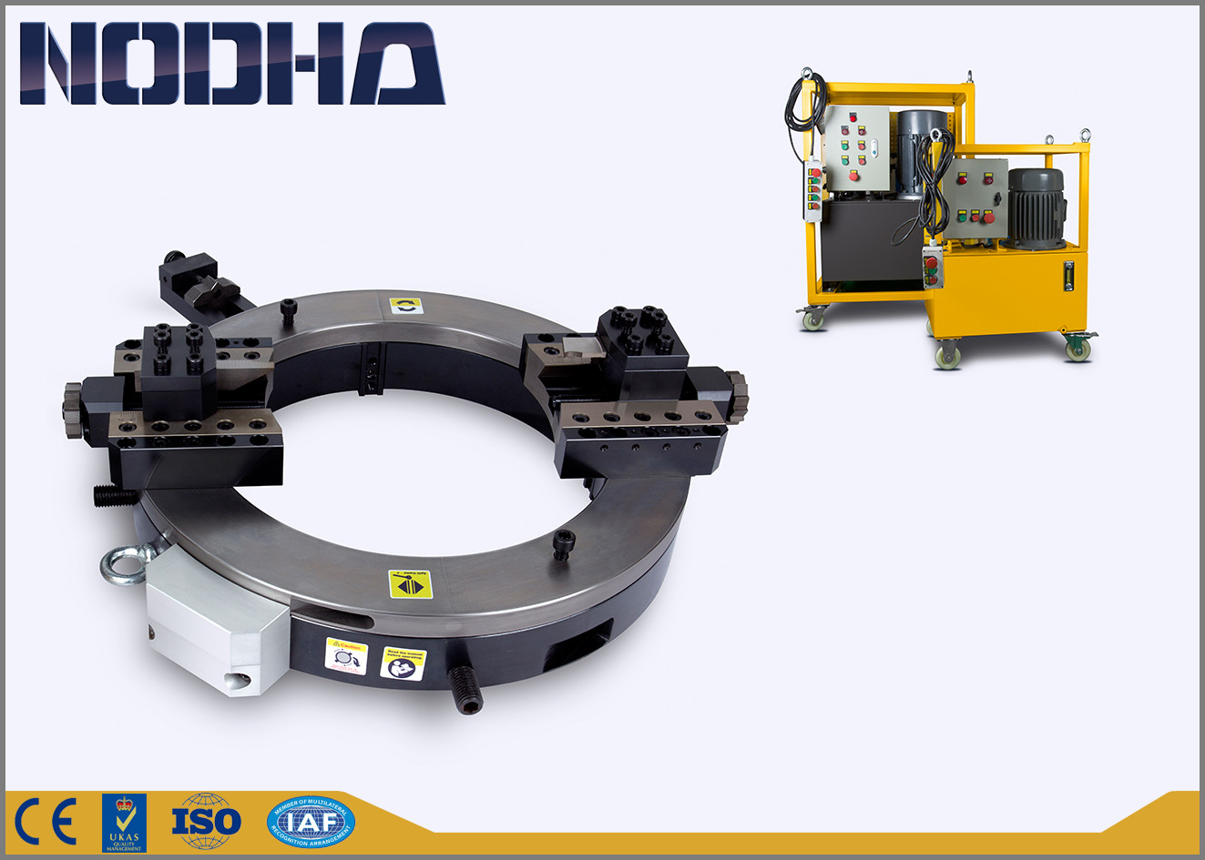 High Speed Powerful Pipe Cutting Beveling Machine With Hydraulic Driven